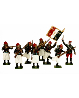 0805 Toy Soldiers Set French Zouaves Painted