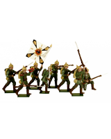0810 Toy Soldiers Set German Infantry 1914 Painted