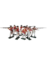 203 Toy Soldiers Set British 10th Regiment Infantry Painted