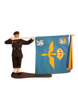 AL90 68 T.S. Standard Bearer Skaraborg Air Force Regiment F7 Painted