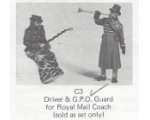 C003 - Driver & G.P.O. Guard for Royal Mail Coach - Unpainted