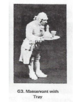 G03 - Manservant with tray & drinks - Unpainted