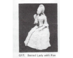G17 - Seated Lady with fan (figure only) - Unpainted