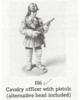 H006 - Cavalry Officer with pistol - Unpainted