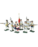 606 Toy Soldiers Set French Infantry Painted