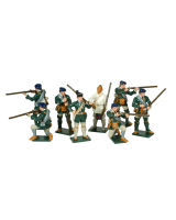 0611 Toy Soldiers Set Rogers Rangers With Robert Rogers Painted