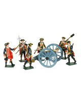 0618 Toy Soldiers Set Royal Artillery 1750 Painted
