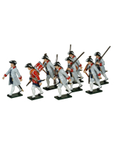 623 Toy Soldiers Set French Infantry La Reine Regiment Painted