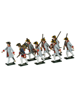 624 Toy Soldiers Set French Infantry Guyenne Regiment Painted