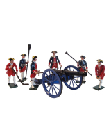 0665 Toy Soldiers Set French Artillery Gun Crew Painted
