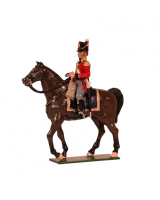 0767 Toy Soldiers Set Senior Officer Mounted Painted