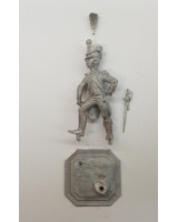 75/05 Model Soldier - French Officer de Grenadiers 22e, en tenue de service 1807-08 - Unpainted