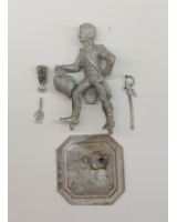 75/06 Model Soldier - French Officer de Grenadiers en tenue de service 1804-10 - Unpainted