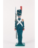 N2-2 Toy Soldier Sergeant at attention French Foot Artillery 1810 Kit