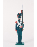 N2-4 Toy Soldier Gunner with musket at attention French Foot Artillery 1810 Kit