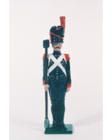 N2-5 Toy Soldier Gunner with sponge at attention French Foot Artillery 1810 Kit