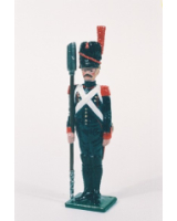 N2-6 Toy Soldier Gunner with powder scop at attention French Foot Artillery 1810 Kit