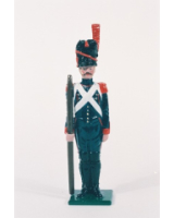 N2-7 Toy Soldier Gunner with handspike at attention French Foot Artillery 1810 Kit