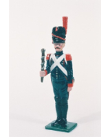 N2-8 Toy Soldier Gunner with portfire at attention French Foot Artillery 1810 Kit