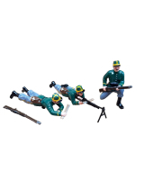 834 Toy Soldier Set Machine Gun Set - 1st Carabinier Regiment Painted