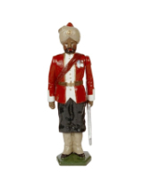 0070 1 Toy Soldier Officer 8th Madras Native Infantry 1890 Kit