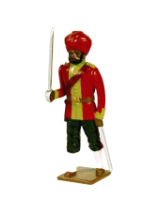 0008 1 Toy Soldier Officer 15th Bengal Infantry Ludhiana Sikhs 1890 Kit