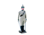 0033 1 Toy Soldier Officer at attention 29th Punjab Infantry Kit