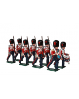 0111 Coldstream Guards Marching Toy Soldiers Set Painted
