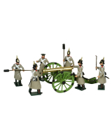 0117 Russian Artillery Toy Soldiers Set Painted