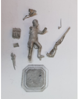 75/32 Model Soldier - French Grenadier de ligne en tenue de route 1805-07, standing firing - Unpainted