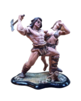 JW90 063-064 Barbarian and Girl Painted