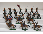 Zinnfiguren Mars 30mm - Box 004 - Russian Infantry and Cavalry Preobrazhenska Lifeguard 1914-18 - Painted