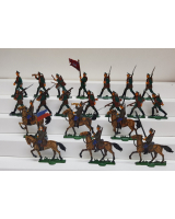 Zinnfiguren Mars 30mm - Box 004 - Russian Infantry and Cavalry Preobresehanska Lifeguard 1914-18 - Painted