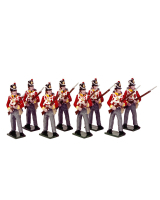 0709 Toy Soldiers Set British Line infantry Painted