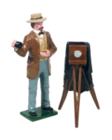 0520 Toy Soldier Set Mathew Brady and Camera Painted