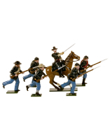 0901 Toy Soldiers Set Union Infantry Charging Painted