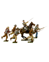 0902 Toy Soldiers Set Confederate Infantry Charging Painted