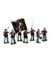 0903 Toy Soldiers Set Union Infantry with Colour Bearer Painted