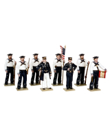 0908 Toy Soldiers Set The Union Navies in attention Painted
