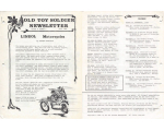 Old Toy Soldier Newsletter 1980 Volume 4 Number 3 - Lineol Lionel Motorcycles