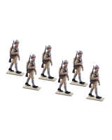 0835 Toy Soldier Set Privates Marching - Turkish Infantry Regiment Painted