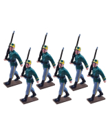 0836 Toy Soldier Set Belgian Infantry Marching - 1st Carabinier Regiment Painted