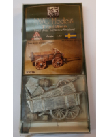 50mm - 1:60 - HWG Models - Tradition - 91016 Two axle supply Wagon 30 Years war - Unpainted