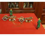 0838 Toy Soldier Set Belgian - Dogcart with a Machine Gun and Limber and two followers 1st Carabinier Regiment Painted