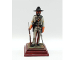 A/17 Dick H. Perry Corporal, 1st Virginia Cavalry 1861-65 - 90mm Foot Painted in Matt with Wooden base