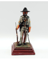 A/17 - Dick H. Perry Corporal, 1st Virginia Cavalry 1861-65 - 90mm Foot Painted in Matt with Wooden base