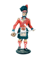 CS90 18 Officer The Black Watch 42nd Highlanders 1815 Painted