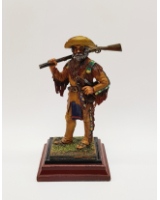 A/16 - Jerry C. Crandall Mountain Man 1830 - 90mm Foot Painted in Matt with Wooden base