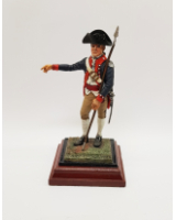 A/04 - Gary E. Maisack Officer, U.S. Infantry 1776-83 - 90mm Foot Painted in Matt with Wooden base