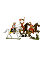 0703 Toy Soldiers Set Dutch Lancers Officer, Eagle Bearer and Trumpeter Of the Imperial Guard Painted